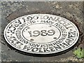 SJ8497 : Technology Arch Base Plaque by Gerald England