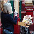TQ3381 : Painting Leadenhall Market by Roger Jones