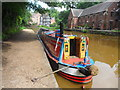 SD7400 : Working Narrow Boat Hadar moored at Worsley. by Keith Lodge