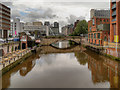SJ8398 : River Irwell, New Bailey Street Bridge by David Dixon