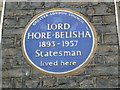TQ2979 : Blue plaque in Stafford Place by Basher Eyre