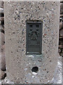 NN9592 : Beinn Bhrotain trig point flush bracket by Hugh Venables