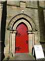NZ0371 : Holy Trinity, Matfen, Doorway by Alexander P Kapp