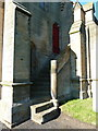 NZ0371 : Holy Trinity, Matfen, Steps by Alexander P Kapp