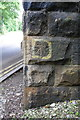 SK3871 : Benchmark on bridge beneath Chesterfield Station by Roger Templeman