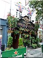 TQ3081 : Jubilee flags at The Cross keys in Endell Street by Basher Eyre