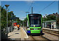 TQ3466 : Stadler Variobahn Tram at Addiscombe by Peter Trimming