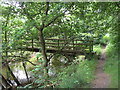 SJ8682 : Footbridge over River Dean by John Topping