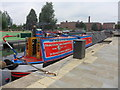 SJ8598 : Working Narrow Boat Hadar moored in New Islington Marina. by Keith Lodge