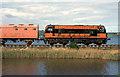 J4298 : Weed-spraying train near Magheramorne by Albert Bridge