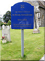 TG1905 : St.Peter's Church, Cringleford, sign by Adrian Cable