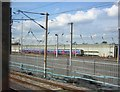 TQ3188 : Carriage sidings, Hornsey, from passing train by Christopher Hilton
