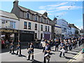 J3014 : The Kilkeel True Blues Brass Band in Greencastle Street by Eric Jones