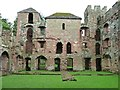 SJ5301 : East side, Acton Burnell Castle by Christine Johnstone