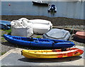 W6450 : Sit-on-top kayaks at Scilly, Kinsale Harbour by David Hawgood