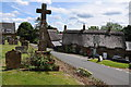 SP3737 : Cross in Swalcliffe churchyard by Philip Halling