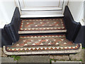 SX9373 : Tiled steps, Richmond House, No 20 Fore Street by Robin Stott
