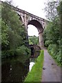 SD9906 : Railway viaduct crosses the Huddersfield Canal at Uppermill by Raymond Knapman