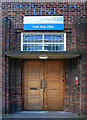 SK3691 : Doorway to the Firth Park Clinic by David Lally
