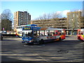 TL0449 : Bus leaving Bedford bus station by Richard Vince