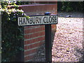 TM3876 : Hanbury Close sign by Adrian Cable