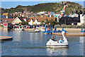 TQ8209 : Pedalo pool at Stade Family Fun Park by Oast House Archive