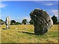 SU1069 : Two of the Avebury stones, Avebury, Wiltshire : Week 30
