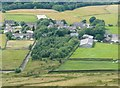 SD9624 : Stoodley Grange from Stoodley Pike, Langfield by Humphrey Bolton