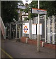 TQ3571 : Sydenham station, up platform entrance by Christopher Hilton