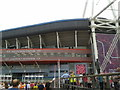 ST1876 : Olympic crowds arriving at the Millennium Stadium by Virginia Knight