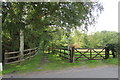 SJ8074 : Pepper Street bridleway entrance by Peter Turner