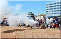 TQ8209 : Cannon on Pelham Beach, Pirate Day by Oast House Archive