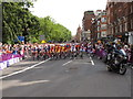 TQ2779 : Olympics men's cycling road race, Brompton Road (1) by David Hawgood