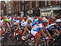 TQ2779 : Olympics men's cycling road race, Brompton Road (3) by David Hawgood