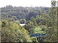 SD7706 : Footbridge over the River Irwell near Sunny Bank Mill by Raymond Knapman
