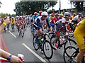 TQ2175 : Whoosh! - the Olympic road race at Rosslyn Park by Stefan Czapski