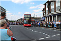 The Olympic Torch was due at 4 p.m.  This image was taken at 3.45 p.m. while the traffic was still flowing.