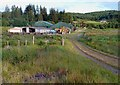 NM9341 : Dalrannoch Farm by Walter Baxter