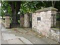 SK5538 : Gates at Lenton Priory  by Alan Murray-Rust