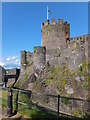SH7877 : Conwy Castle tower by Richard Hoare