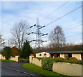 ST1987 : Electricity pylon, Rudry by John Grayson