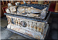 SJ0766 : St Marcella's church, Denbigh - Sir John Salusbury tomb-monument by Mike Searle