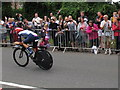 TQ1567 : The crowd cheers on Team GB, Olympics cycling time trial by David Hawgood