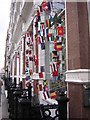 TQ2981 : Display of flags, Great Marlborough Street, Soho W1 by Christopher Hilton