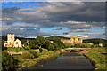SJ0278 : Rhuddlan from the A525 bypass bridge by Mike Searle