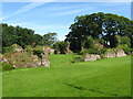 NO2418 : The overgrown ruins of Lindores Abbey by jim and liz denham