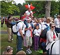 TQ2780 : Olympics triathlon Hyde Park - spectators by David Hawgood