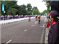 TQ2779 : Olympics women's triathlon Hyde Park - cycling by David Hawgood
