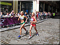 TQ3381 : Women's Marathon, 2012 Olympics, Leadenhall Market by Roger Jones