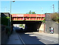 TQ2485 : Cricklewood Lane railway bridge, London NW2 by John Grayson